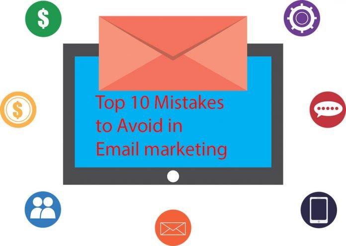 E-mail Marketing Mistakes