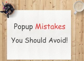 Pop-Up Mistakes